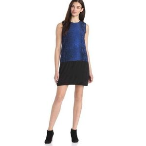 Rebecca Taylor Blue Snakeskin Shift Dress
